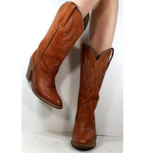 Frye 1970's Vintage Rare Cowgirl Heeled Boots